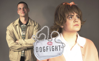 Nathan Wilusz left and Addison R. Koehler in Pasek & Paul's DOGFIGHT Photo by Gary Nelson, www.photoGary.net