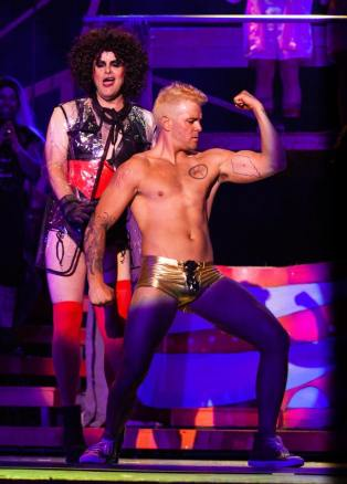 "e9a6eb191ac57e Dave Ruark and Joe Doyel in Zach & Zack's ""Rocky Horror Show"""